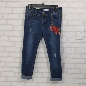 Between us floral  detail Jean's size 11 girls